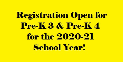 It's Time to Register for Pre-K 3 and Pre-K 4!